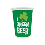 Green Beer Plastic Cups