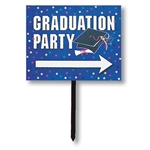 Graduation Directional Lawn Sign