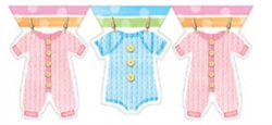 BABY CLOTHES LINE SHAPED BANNER