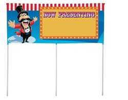 BIG TOP BDAY YARD BANNER