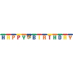 Building Block Party Jointed Birthday Banner