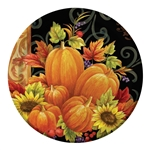 Pumpkin Tapestry 9 inch Plates
