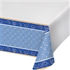 Blue Bandana Print Plastic Table Cover