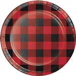 Buffalo Plaid 7 Inch Plates