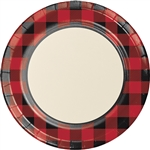 Buffalo Plaid 9 Inch Plates