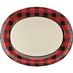 Buffalo Plaid Oval Platters