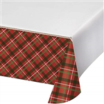Tartan Tidings Table Cover
