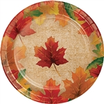 Rustic Leaves 7 Inch Plates