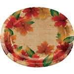 Rustic Leaves Oval Platters