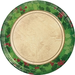 GILDED HOLLY 7 INCH PLATES