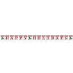 HAPPY HOLIDAYS PENNANT BANNER