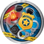 Police Party 9 Inch Plates