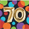Balloon Birthday 70th Beverage Napkins
