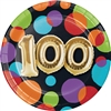 Balloon Birthday 100th 7 Inch Plates