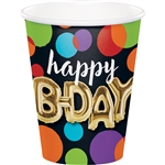 Balloon Birthday 9 Ounce Cups
