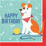 Dog Party Birthday Luncheon Napkins