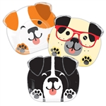 Dog Party 9 Inch Shaped Plates