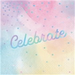 Iridescent Celebrate Luncheon Napkins