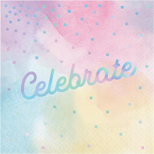 Iridescent Celebrate Luncheon Napkins Bartz S Party Stores