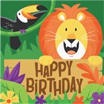 Jungle Safari Birthday Luncheon Napkins
