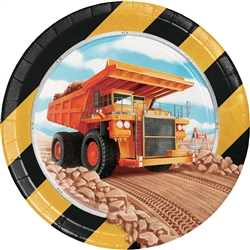 Big Dig Construction 7 Inch Plates