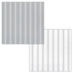 Galvanized Gray And White Striped Luncheon Napkins