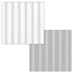 Galvanized Gray And White Striped Beverage Napkins