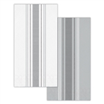 Galvanized Gray And White Striped Guest Towels