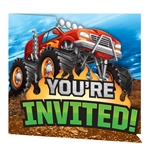 Monster Trucks Invitations