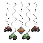 Monster Trucks Dizzy Danglers Decorations