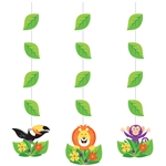 Jungle Safari Hanging Cutouts Decoration
