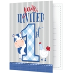 Farmhouse 1st Birthday Boy Invitations