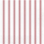 Galvanized Red Stripes Luncheon Napkins