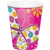 BUTTERFLY SPARKLE 9 OUNCE CUPS