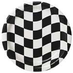 BLACK & WHITE CHECK 7 INCH DESSERT PLATES