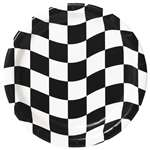 BLACK & WHITE CHECK 9 inch DINNER PLATES