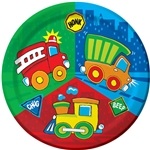 CONSTRUCTION PALS 9INCH PLATES