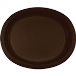 Chocolate Brown Paper Oval Platters