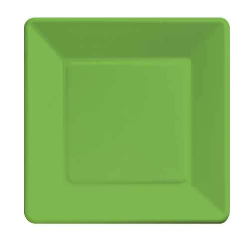 sc 1 st  Bartz\u0027s & Citrus Green 9 Square Paper Plates - Bartz\u0027s Party Stores