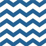 Royal Blue Chevron/Dots Beverage Napkins