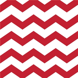 Red Chevron/Dots Beverage Napkins