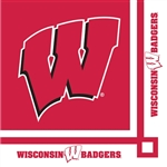 BADGERS BEVERAGE NAPKINS
