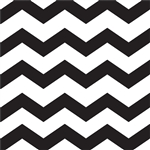 Black Chevron/Dots Beverage Napkins
