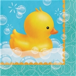 Bubble Bath Rubber Ducky Luncheon Napkins