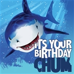 SHARK SPASH BDAY LUNCHEON NAPKINS