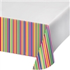 Party Dots and Stripes Plastic Tablecover