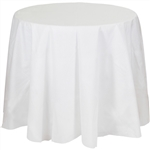 Better than Linen White Octagon Tablecover
