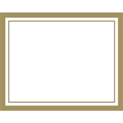 Gold Border Paper Placemats