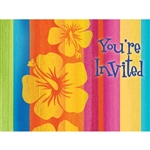 SUNSET STRIPES POSTCARD INVITATIONS