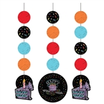 Chalk Birthday Printed Hanging Cutouts